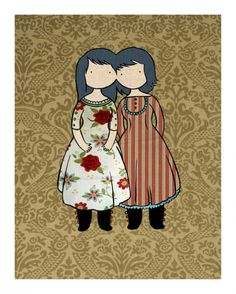 Stasia Burrington. I love the superimposed art onto a seemingly random, intricate patterned background.