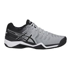 6a6b4d2f803 De Asics Gel-Resolution 7 Clay in de kleuren midgrey/black/white voor
