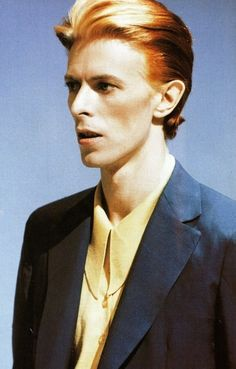 """A picture of David Bowie alias The Thin White Duke, circa '76. Definitive Fashion, could be the last Comme des Garçons collection. At that time, Bowie said his life was "" Red Peppers, Cocaïne and Milk"", and that it was his most hardcore era."""