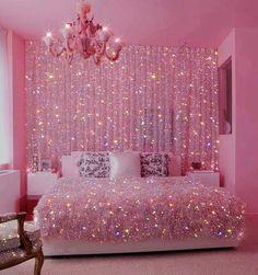 Pink Tumblr Aesthetic, Baby Pink Aesthetic, Aesthetic Bedroom, Pink Glitter Wallpaper, Pink Wallpaper Iphone, Cute Bedroom Decor, Room Ideas Bedroom, Bedroom Wall Collage, Photo Wall Collage