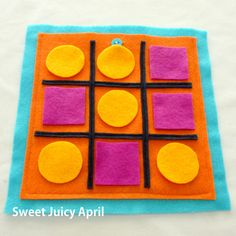 Tic-Tac-Toe Quiet Book Page by SweetJuicyApril on Etsy