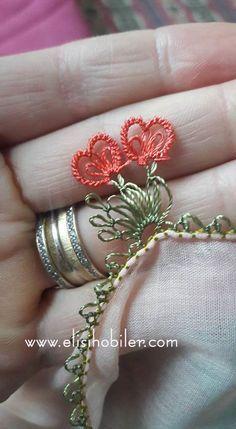 İğne oyası kalp yapılışı #crochet #örgü #needle #iğneoyası #iğneoyaları #yazma #elisi