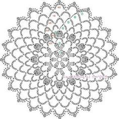 Wonderful Crochet a Solid Granny Square Ideas That You Would Love Free Crochet Doily Patterns, Crochet Circles, Crochet Motifs, Crochet Diagram, Crochet Chart, Crochet Doilies, Crochet Flowers, Crochet Stitches, Knitting Patterns