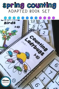 Spring Themed Interactive Counting Books are a perfect way to practice math and counting in a fun and interactive way. Great for students with Autism, Special Education, and early elementary students! Check out the whole bundle and other matching Spring Counting Products!