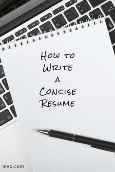 how to write a concise resume - Writing A Resume Tips