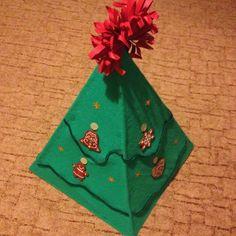 saját készítésű karácsonyfa
