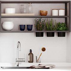 Billedresultat for hth væghylder Deco Furniture, Furniture Design, Pine Floors, Dining Room Inspiration, Meals For Two, Healthy Dinner Recipes, Home Kitchens, Kitchen Dining, Sweet Home