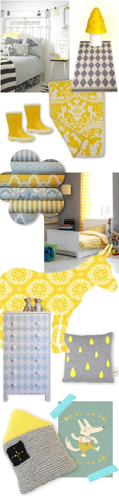 #nursery #kidsroom #yellow #grey