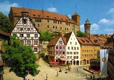 Nurnberg Germany. My grandmother was born here.  I stayed in the youth hostel in the castle and traveled into town to see the church where she was baptized and where her parents were married.