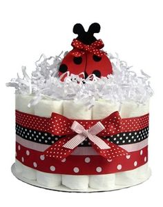 Little Ladybug baby girl diaper cake LOVE IT!!