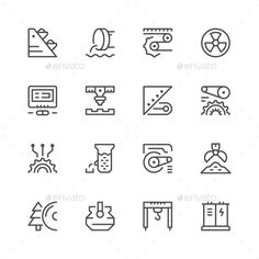 Set Line Icons of Industry Isolated on White  ? Available RGB color  ? Good choice for use in infographic and interface  Attached