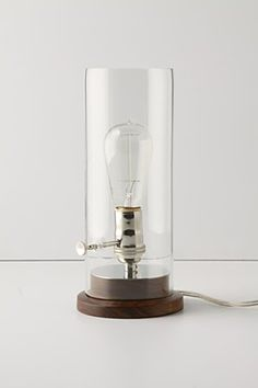 I adore this - it's got the look and feel of an oil lamp but it's ELECTRIC!
