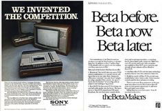 They also made the first vdo cassette player - Betamax - then VHS came later by other brand. Sony lose this battle to VHS in not so many years.