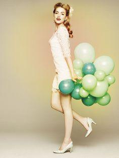 Dainty Diversion Mini #bhldn #dress #balloons #wedding #party #lace #shift