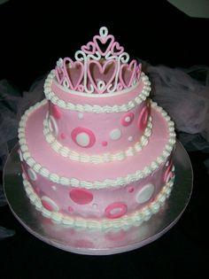 cute heart princess cake