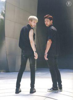Wonho and Shownu Photobook [Monsta X: Temperature] Monsta X Shownu, Jooheon, Minhyuk, Korean Entertainment, Starship Entertainment, K Pop, X Fighter, Lee Joo Heon, Hyun Woo