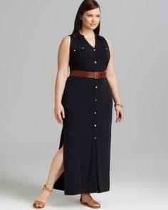 MICHAEL Michael Kors Plus Maxi Shirt Dress  Bloomingdale's