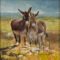 Donkey/burro painting by Veryl Goodnight