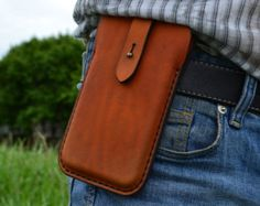 Funda para el iPhone 6 - cuero iPhone 6 bolsa / - bolsa de la correa - jengibre rojo