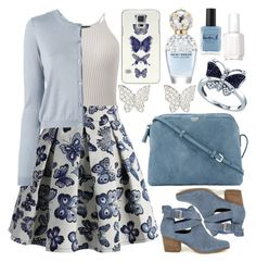 """""""Spring"""" by deedee-pekarik ❤ liked on Polyvore featuring Chicwish, RED Valentino, Sole Society, The Row, Latelita, BillyTheTree, Casetify, Marc Jacobs, Lauren B. Beauty and Essie"""