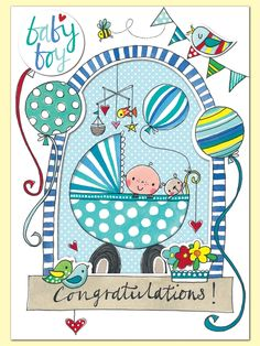 New baby boy cards - baby boy congratulations - baby congratulations greeting card - new baby card - baby boy cards - newborn card - baby balloons Baby Boy Cards, New Baby Cards, Baby Shower Cards, New Baby Gifts, Baby Announcement Message, New Baby Announcements, Congratulations Baby Boy, Baby Messages, Baby Boy Themes