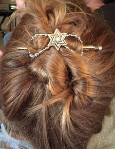 """I love this """"Star of David"""" flexi clip in a messy up and down twist!"""