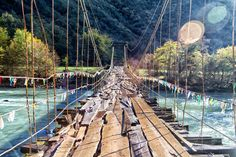 Old bridge in the mountains by Olezzo on @creativemarket