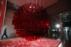 Sphère rouge - Julio Le Parc