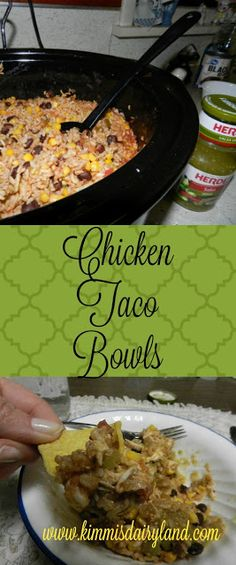 Healthy, delicious and easy Crock Pot recipe perfect for any season. Chicken, rice, black beans, salsa, chips...this is one of my favorite Mexican inspired slow cooker meals.