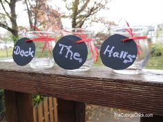 Crafting Fab: 2 Easy DIY Holiday Decor Crafts Using Chalkboard Paper