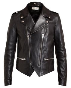 SAINT LAURENT | Classic Leather Biker Jacket