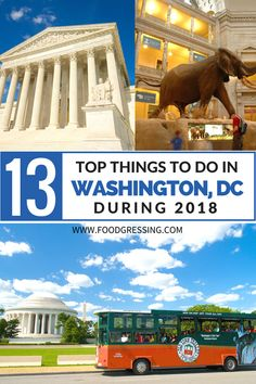 13 Top Things to Do in Washington DC during 2018 including the National Cherry Blossom Festival, Old Town Trolley Sightseeing Tour and more.