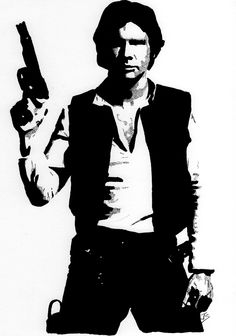 Han Solo Ink on A3 Smooth Bristol Board.