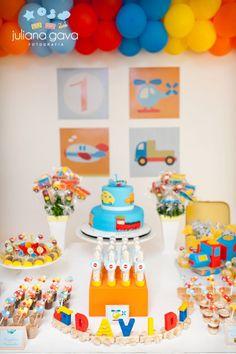 1 Year Old Birthday Party, Boys First Birthday Party Ideas, Baby Boy Birthday, Boy Birthday Parties, Birthday Party Decorations, Transportation Birthday, 1st Birthdays, Baby Party, Threenager