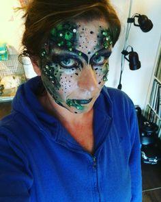 #julychallenge #day14 #poisonivy #glittergalore #facepaint