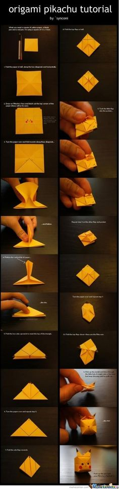 Origami Lvl: Pikachu