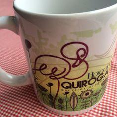 Empezando el día con una buena taza de café! #Quiroga acompañándonos! ¡Feliz y productivo miércoles! #MugsLiterarios #MugQuiroga #B612