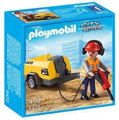 Playmobil – 5472 – Figurine – Ouvrier Avec Marteau-piqueur