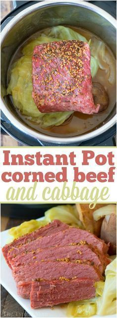IP Corned Beef & Cabbage