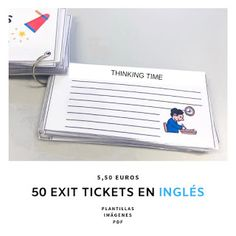 Exit tickets for lessons. Pack of exit tickets. Exit Tickets, France, Bath Caddy, Packing, English, School, Control, Notebooks, Notes