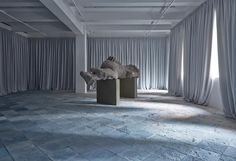 Adrian Villar Rojas installation Two Suns at Marian Goodmann Gallery, New York City