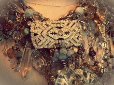 Rhinestone Dreams...part of my Drops of Crystal class...teaching in session one this summer online at Artful Gathering 2013!