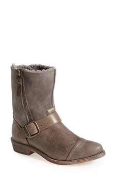 Koolaburra 'Duarte' Shearling & Leather Engineer Boot (Women) available at #Nordstrom
