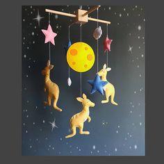 Kangaroo baby mobile Baby crib mobile Felt boy mobile Handmade girl mobile Cot baby mobile Animals mobile Nursery decor Hanging mobile Boy Mobile, Baby Crib Mobile, Baby Cribs, Zoo Toys, Baby Toys, Big Stuffed Animal, Cute Dog Toys, Spider Light, Kangaroo Baby