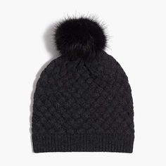 c2a9bba18b276 J.Crew Knit hat with faux-fur pom-pom