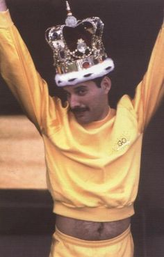 Freddie Mercury!!!!!!!!!! Say what you want but there was never another voice like his.