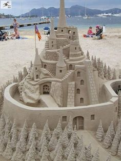 Now that is a sandcastle.