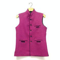 Men's Silk Vest - Pink
