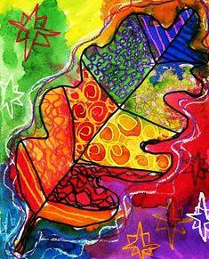 Watercolor and crayon resist masterpiece.