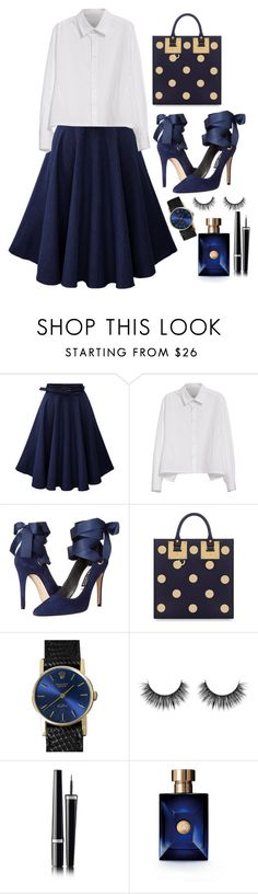 """""""Untitled #153"""" by nabilaseshaa ❤ liked on Polyvore featuring Y's by Yohji Yamamoto, Alice + Olivia, Sophie Hulme, Rolex, Chanel and Versace"""
